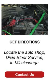 Locate the auto shop, Dixie Bloor Service, in Mississauga